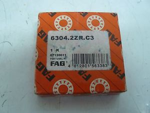 high temperature  FAG 6304.2ZR.C3 BALL BEARING SHIELDED DEEP GROOVE