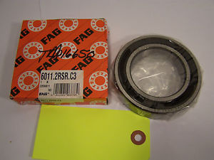 high temperature FAG 6011.2RSR.C3  22090811 BALL BEARING. UNUSED FROM OLD STOCK. PB2