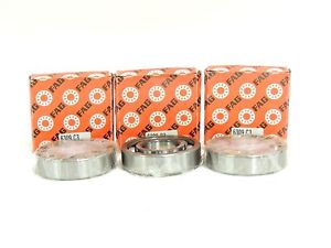 high temperature New FAG Ball Bearing 6309.C3  45mm ID, 100mm OD, 25mm W  LOT OF 3