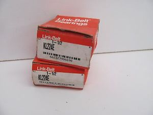 high temperature LOT OF 2 LINK-BELT BEARINGS 1-1/2 KL224E