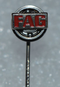 high temperature FAG Ball Bearings German Maker Car Auto parts vtg Rotating stick pin badge Rare