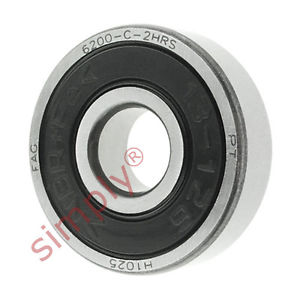 high temperature FAG 62002RSR Rubber Sealed Deep Groove Ball Bearing 10x30x9mm