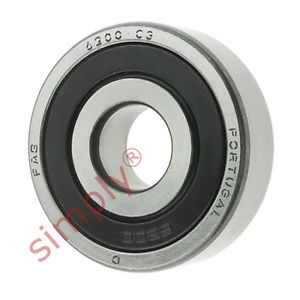 high temperature FAG 62002RSRC3 Rubber Sealed Deep Groove Ball Bearing 10x30x9mm