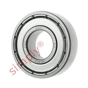 high temperature FAG 60012Z Metal Shielded Deep Groove Ball Bearing 12x28x8mm