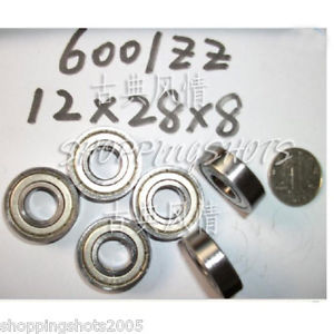 high temperature 100pcs 6001-2Z ZZ Deep Groove Ball Bearing Quality 12x28x8 6001Z 6001ZZ 12*28*8