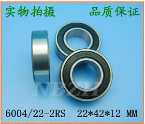 high temperature (2) 6004-RS 2RS Deep Groove Ball Bearing ABEC1 22x42x12 Non standard 22*24*12 mm