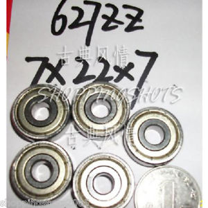 high temperature (10pcs) 627-ZZ 2Z bearings Deep Groove Ball Bearing 7X22X7 mm 7*22*7 627Z 627ZZ