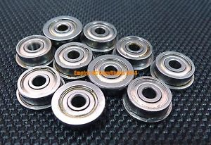 high temperature 5 PCS 440c Stainless Steel FLANGE Ball Bearing Bearings SMF84zz MF84zz 4x8x3 mm