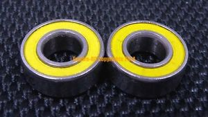 high temperature ABEC-5 [2 PCS] S697-2RS (7x17x5 mm) Stainless Steel CERAMIC Hybrid Ball Bearing