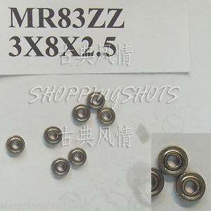 high temperature 1pc MR83 MR83Z Miniature Bearings ball Mini bearing 3X8X2.5 mm 3*8*2.5 MR83zz ZZ