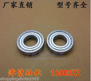high temperature 2 pcs 16003-2Z Deep Groove Ball Bearing 17x35x8 17*35*8 mm bearings 16003ZZ ZZ
