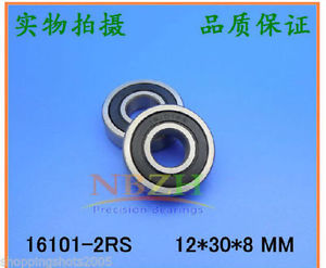 high temperature 2 pcs 16101-2RS Deep Groove Ball Bearing 12x30x8 12*30*8 mm bearings 16101RS