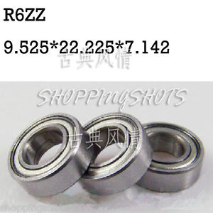 "high temperature 10pcs R6 ZZ 3/8"" x 7/8""x 9/32"" inch Bearing Miniature Ball Radial Bearings R6ZZ"
