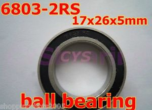 high temperature 10pcs thin 6803-2RS 6803 RS bearings Ball Bearing 6803RS 17X26X5 17*26*5 mm