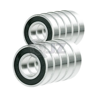 high temperature 10x SS6205-2RS Ball Bearing 25mm x 52mm x 15mm Rubber Sealed Stainless Steel QJZ