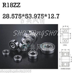 "high temperature 1pcs R18 ZZ 1 1/8""x 2 1/8"" x 1/2"" inch Bearing Miniature Ball Radial Bearings Z"