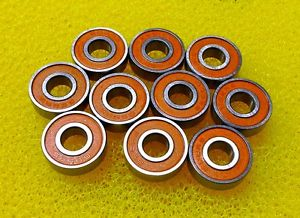high temperature S687-2RS (7x14x5 mm) 440c CERAMIC Stainless Steel Bearing (2 PCS) ABEC7 Orange