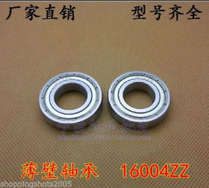 high temperature 10 pcs 16004-2Z Deep Groove Ball Bearing 20x42x8 20*42*8 mm bearings 16004ZZ ZZ