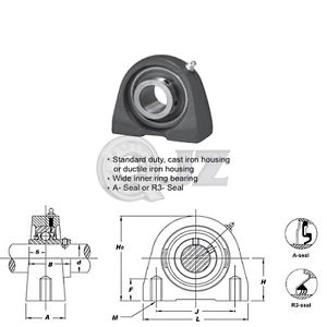 high temperature 1x SSUCPA207-20 Stainless Steel Mounted Bearing Unit SSUC207-20+PA207 New QJZ