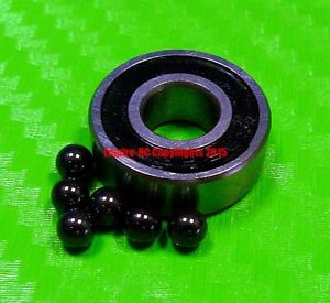 high temperature [QTY 4] (8x19x6 mm) S698-2RS Stainless HYBRID CERAMIC Ball Bearing Bearings BLK