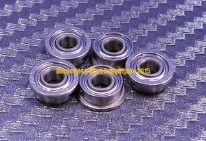 high temperature [QTY 5] SMF84zz MF84zz (4x8x3 mm) 440c Stainless Steel FLANGED Ball Bearing