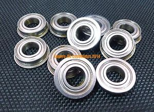 "high temperature (25 PCS) SFR144zz (1/8"" x 1/4"" x 7/64"") Stainless Steel FLANGED Ball Bearing"