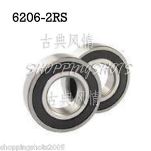 high temperature 1pc 6206-2RS RS Deep Groove Ball Bearing 30x62x16 bearings 30*62*16 mm 6206 2RS