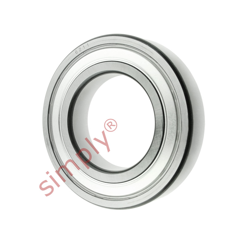 high temperature FAG 62112Z Metal Shielded Deep Groove Ball Bearing 55x100x21mm