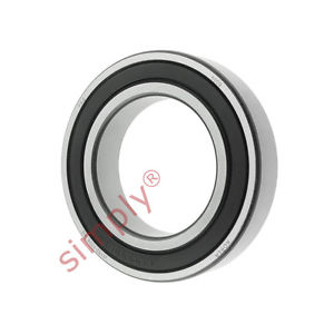 high temperature FAG 60092RSR Rubber Sealed Deep Groove Ball Bearing 45x75x16mm