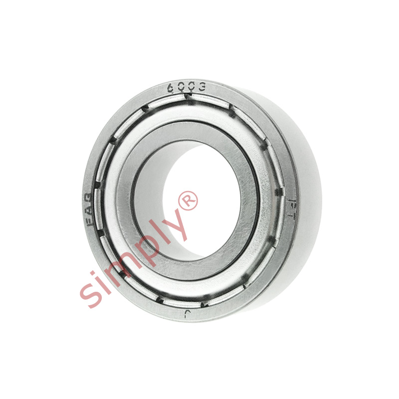 high temperature FAG 60032Z Metal Shielded Deep Groove Ball Bearing 17x35x10mm