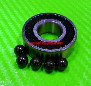 high temperature [QTY 4] (7x17x5 mm) S697-2RS Stainless HYBRID CERAMIC Ball Bearing Bearings BLK