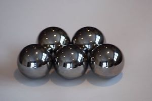 """high temperature FIVE 1/2"""" Inch  420  Stainless  Steel Bearing Balls (5)"""