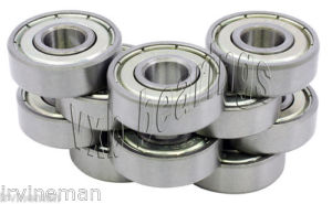 high temperature 10 Ceramic Bearing 2x5x2.5 Stainless Shielded ABEC-5 Bearings Rolling