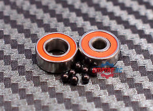 high temperature ABEC-7 [2 PCS] SMR63-2RS (3x6x2.5 mm) Stainless CERAMIC Hybrid Ball Bearing