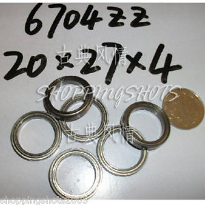 high temperature 1pc 20X27X4 20*27*4 mm Thin Ball Bearing 6704ZZ Bearings 6704Z 6704 Z 2Z 6704 ZZ