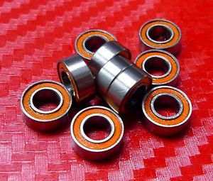 high temperature [QTY 5] SMR106-2RS (6x10x3 mm) CERAMIC 440c Stainless Steel Ball Bearing MR106RS