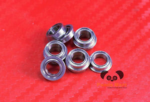high temperature [10 PCS] SMF84zz (4x8x3 mm) Stainless Flanged Ball Bearing Bearings MF84zz 4*8*3
