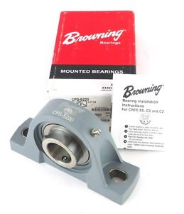 "high temperature BROWNING CPS-S220 764119 1-1/4"" 2 Bolt Stainless Ball Bearing Pillow Block 1Ab"