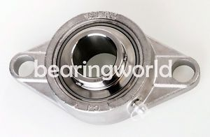 "high temperature MUCFL206-18  1-1/8"" Stainless Steel 2 Bolt Flange Bearing SUCSFL206-18"