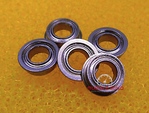 "high temperature [10 PCS] SFR144zz (1/8""x1/4""x7/64"") Stainless Steel Flanged Ball Bearing FR144zz"