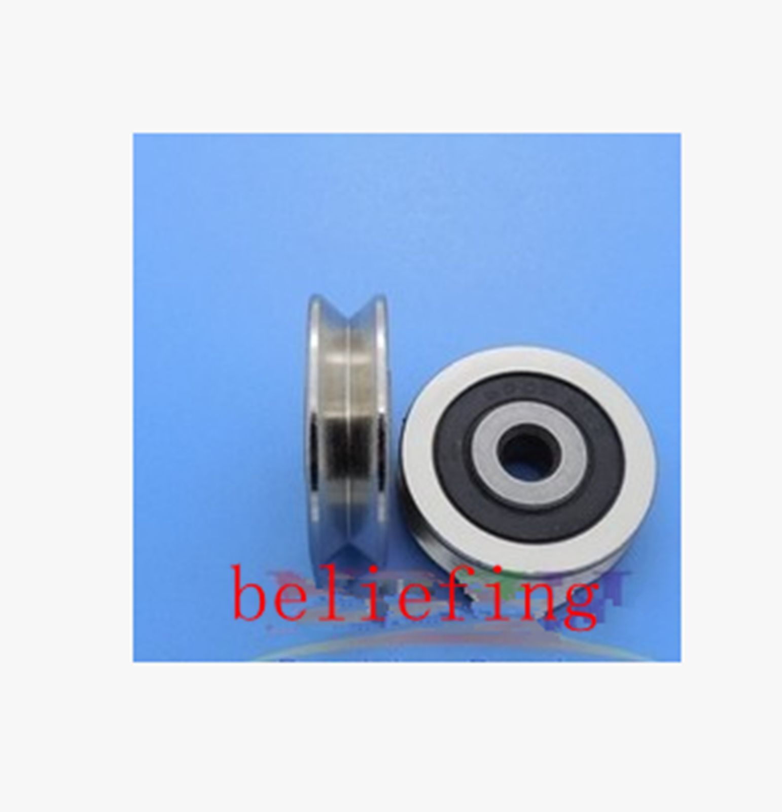 high temperature 5pcs 6mm 630VV 6*30*8 V Groove Sealed Ball Bearings 0.236'' vgroove bearing