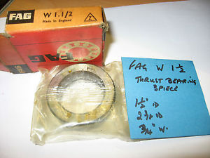 "high temperature FAG W 1 1/2"" ball thrust bearing. 1 1/2"" id x 2 11/32"" od x 23/32"" thick."