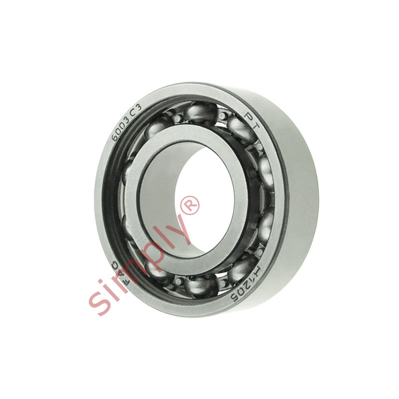 high temperature FAG 6003C3 Open Deep Groove Ball Bearing 17x35x10mm