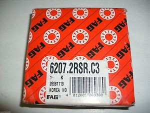 high temperature FAG 6207.2RSR.C3 62072RSRC3 Deep Groove Ball Bearing Single Row Double Sealed
