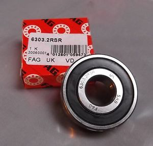 high temperature Genuine FAG 6303.2RSR Metric Deep Groove Ball Bearing with two rubber seals