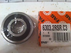 high temperature FAG SCHAEFFLER 6303.2RSR.C3.L38 RADIAL AND GROOVE BALL BEARING