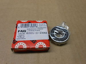 high temperature 1 NIB FAG 6001-C-2HRS 6001C2HRS DEEP GROOVE BALL BEARING SEALED 12 X 28 X 8