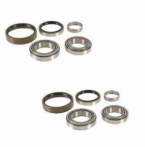 high temperature 2 FAG Left+Right axle Rear Wheel Bearing Kits w/ Seals Ball Roller for Mercedes