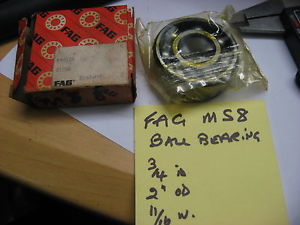 """high temperature FAG  MS8 ball bearing. 3/4"""" id x 2"""" od x 11/16"""" wide."""