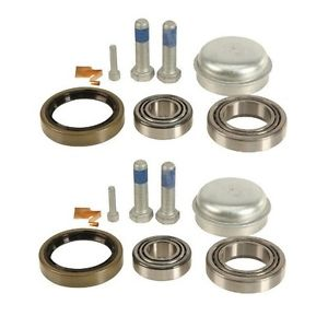 high temperature 2 FAG Left+Right Front Axle Wheel Bearing Kits Ball Roller Set Pair for Mercedes